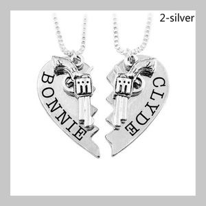 Jewelry - ❗️NEW❗️Bonnie & Clyde Lovers Pendent Necklaces